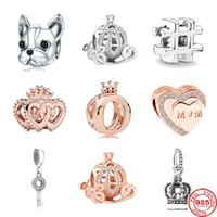 2020 Новая питомец собаки корона мама ключ крест сердца тыквы поделки бусинки приспосабливать первоначальную прелесть серебра 925 браслет для женщин ювелирных изделий