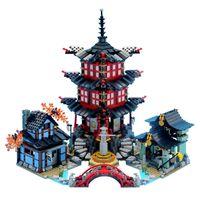 06022 2028 pcs Ninja Temple of Airjitzu Blocos de construção 70751 para meninos e meninas presentes 89009