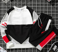 Sweater suit tracksuits Circular collar hoodie set spring and autumn style with couples patchwork loose jumper Casual