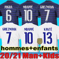 2020 camisa de futebol Mbappé maillot camisa homens qualidade RABIOT caçoa o futebol HERNANDEZ Varane GIROUD Thauvin Kante Pogba superior tailândia de pé