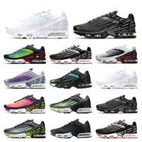 tn plus 3  chaussures de course triple gris blanc Oreo noir irisé Parachute pack élevé femmes pourpre nébuleuse entraîneur sport