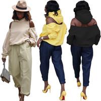 Donne Designer con cappuccio in 3 colori di moda oversize Felpa con cappuccio, da scava fuori Femme primavera vestiti di autunno