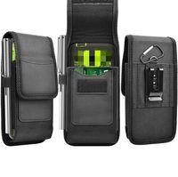 Spor Naylon Bant Klip Kılıf Evrensel Cep Telefonu Kılıf için Iphone 12 Samsung Huawei Moto LG Deri Çanta Bel Paketi Çantası
