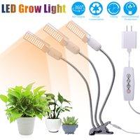 La crescita delle piante luce 5V 20W 3000K 132 LED dimmerabili a tre a testa piana clip della luce del cereale pianta spettro completo bianco caldo della luce di riempimento