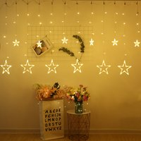 Decorazione natalizia LED String Light Light Pentagram Star Tenda 2.5M 110 V / 220 V Matrimonio 2020New Year Party Christmas Lighting Home Decor