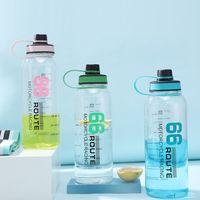 Günstigste 53 Unzen 1500ml Erwachsene Kinder im Freien kampierende BPA frei Sport-Wasserflasche Qualitäts-große Kapazität Plastikwasserflasche