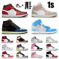 nike air retro jordan 1 jordans jumpman 1s off white Chegada Nova Womens Basketball Mens Shoes 1s Mid Chicago Milan Retro alta OG Bio Corte Branco off mulher Formadores Sneakers