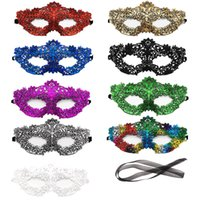 Lace Sexy Maske Frauen Augengesichtsmaske Maskerade Augenmasken Dekorationen Halloween-Party-Masken-multi Farbe der neuen Art-Spitze-Maske HHE1434