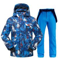 Лыжные лыжные куртки лыжный костюм мужчины зима 2021 термальные водонепроницаемые ветрозащитные одежды снежные брюки куртка набор и сноуборд