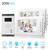Video Door Phones Wired 7 '' Monitor Phone Intercom System IR Night Vision Cámara Timbre para 2 3 4 Apartamento