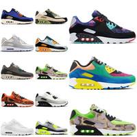 2020 Nike Air Max 90 Running Shoes Moss Verde item 3 do ar Viotech Triplo Preto Mens Branco Roxomaxairmax Formadores Mulheres Sports Sneakers