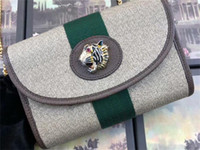 5A top quality 573797 18cm Rajah Mini Bag Short Wallet,Tiger Head,Come With Dust Bag Box,Free Shipping