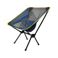 Tragbare Klappstuhl im Freien Picknick am Strand Stuhl Camping Fischen Netz Oxford-Gewebe atmungsaktiv Stühle Sitz Freizeit Mond Stuhl