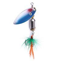 Hengjia 100pcs Angeln Löffel-Köder mit einem Haken 7.4G 6 # HOOKS Spinner Köder Trolling Laser für Seefisch Metalllöffelköder