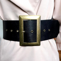 7CM wide black red belt women's waist decoration hundred matching high waist wide band ladies girdle custom belt head