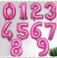 Decoración fiesta helio globos de helio 32 pulgadas oro número de letra aluminio cumpleaños boda aire par