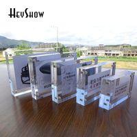 Alarm Sistemleri 10x Akrilik Manyetik Fiyat Etiketi Tutucu Etiket Çerçeve Masası Kristal PO Ekran Standı Menü Adı Kart Raf Burcu Tabanı