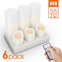 candela ricaricabile LED lampeggiante tè leggero cena festa di nozze candele di Natale candele decorazione della casa anniversaire