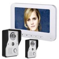 Video-Türsprechanlage Türklingel Intercom Kit 2-Kamera 1-Monitor-Nachtsicht mit IR-CUT HD 700TVL Kamera