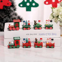 the 2020 Christmas decorations DIY wooden Christmas train fo...