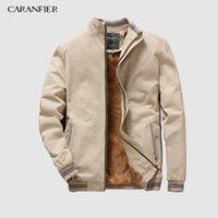 CARANFIER Autumn Mens Bomber Jackets Casual Male Outwear Fleece Thick Warm Windbreaker Jacket Military Baseball Coats Clothing 200922