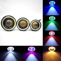 "1 Paar Angel Eyes Nebel-Lampe 2.5"" 3.0"" 3.5"" 64mm 76mm 89mm 12V Universal-COB-LED DRL treibende Lichter, weiß, blau, rosa, gelb, grün, rot"
