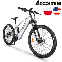 EU US STOCK 27. 5inch Bike 48V 750W 9 Speed Center Shock Abso...