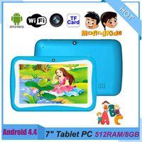 Kid Tablet PC Ta83 quad core nucleo da 7 pollici da 7 pollici 1024 * 600 HD schermo Android 4.4 RK3126 512MB RAM 8GB con WiFi Bluetooth