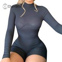 Macacões femininos Macacões Chaxiaoa Moda Sexy Jumpsuit Summs Playsuit Club Verão Mulheres Roupas Bodycon Bodysuit Femme Catsuit