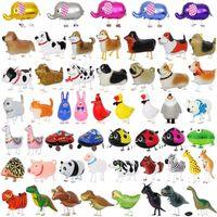 Yürüyüş Hayvan Balonlar Hayvan Helyum Alüminyum Folyo Balonlar Karikatür Dinozor Balon Çocuk Oyuncakları Doğum Düğün HHC1289 Malzemeleri