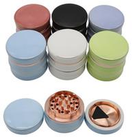 Eco Friendly cerámica Grinder 63mm Diámetro 4 partes secas del tabaco trituradora de humo Smasher con cobre entrada de caja al por menor Paquete