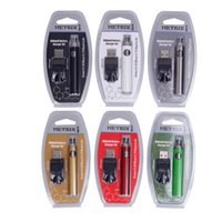 Métrix Préchauffez-vous Kit de blister de batterie 650MAH Vertex Préchauffage Voltage Valtion VTH Batteries USB Chargeur de Vape pour 510 cartouches d'huile épaisses