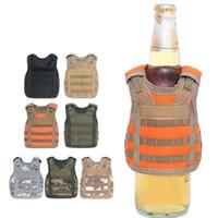 İçecek KOZIE Yelek Askeri Molle Mini Bira Kapak Yelek Soğutucu Kol Ayarlanabilir Omuz Askıları Bira Kapak Bar Parti Dekorasyon