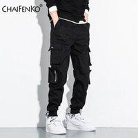 CHAIFENKO Hip Hop Kargo Pantolon Erkek Moda Harajuku Harem Pant Streetwear Casual Koşucular Çoklu Cep Kravat ayaklar Erkekler Pant M-8XL