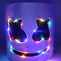 Helm DIY LED leuchten Maske Scary Ganzkopfbedeckung Cosplay Bar Music Props Wire Light Mask up für Halloween Festival-Party-Lumino