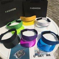 Ampla Brim bonés Mulheres Verão Proteção UV Sun Visor Plástico Chapéu De Golfe Sport Leopard Headband Cap