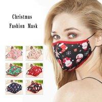 Рождественская маска для взрослых пыл дышащего хлопка Маски Мультфильм Печати моющихся многоразовых Защитной маска OOA9062