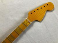 전기 기타 목 메이플 21 프렛 메이플 핑거 보드 DIY 기타 부품 25.5inch