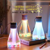 جديد لتنقية الهواء المرطب بخاخ الأكسجين مولد USB صغير ضوء الليل متمنيا زجاجة المرطب