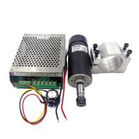 Luftgekühlte Spindel 500W CNC-Spindelmotor-Kit + einstellbare Stromversorgung 52mm Klemmen Spannfutter für Graviermaschine