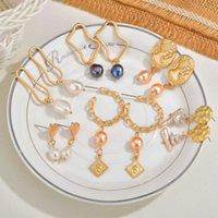 Boho Natural Freshwater Abalone Akoya Pearls Earrings Bohemia Gold Elizabeth Coin Dangle Long Earrings For Women Wedding Jewelry