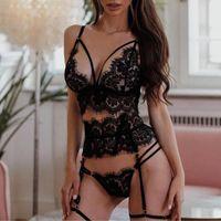 브래지어는 여성을위한 섹시한 란제리를 설정합니다. 친절한 포르노 레이스 에로틱 속옷 잠옷 Elatic Pajamas Femme Bra 세트