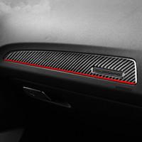 Fibra di carbonio Interni Porte disposizione della copertura della Copilot Dashboard Pannello Adesivi Styling per Audi Q5 (2010-2018) SQ5 (2013-2017)