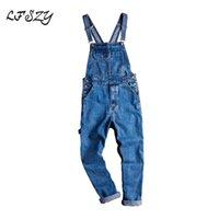 Casual pantalones de mezclilla azules sueltas, ropa de trabajo, ropa de trabajo Sling los pantalones vaqueros de los hombres de los hombres de Lfszy