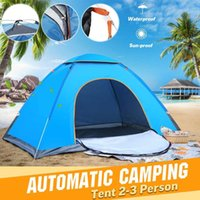 2-3 persona portatile pieghevole esterno della tenda impermeabile automatico istante Aprire escursione di campeggio Acquatico Viaggio tenda anti UV Parasole