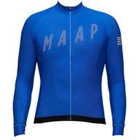 Pro Team Maap Cycling Manga Larga Jersey Mens MTB Camisa de bicicleta Autumn transpirable Quick Seco Racing Tops Road Bicicletas Ropa Ropa deportiva al aire libre Y21042214