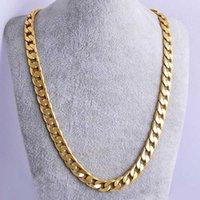 Men Figaro Chains Trendsetter Hip Hop Gold Necklaces Street Dancer Rapper Rock Nightclub Jewelry Accessories 76cm*1.2cm