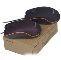 소매 상자 무료 블랙 레드와 컴퓨터 노트북 게임 마우스 레노버 미니 유선 3D 광학 USB 게임 마우스 마우스를위한