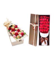 DIY OEM fábrica Loção caixa de óleo da flor de papel rígida Perfume embalagens de luxo Embalagem Box Custom impresso rígido Papelão Gift Box Flor Rose