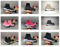 2020 New Speed Trainer Knit Sock Sunk Scarpe da corsa Nior Rose Hortensia Tripla Bianco Bianco Rosso Rosa Speed Trainer Bambini Donne Dimensioni Dimensioni 24-46